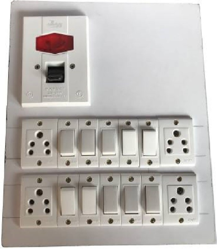 Fozti Wooden 4  Socket Extension Boards(White)