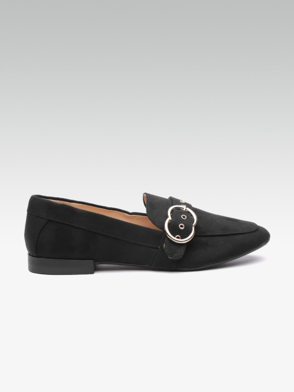 DOROTHY PERKINS Women Solid Loafers Loafers For Women(Black)