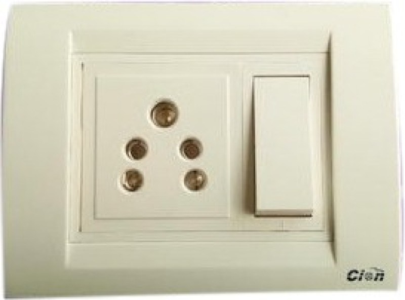 Cion Switch Board White Base 1  Socket Extension Boards(White)