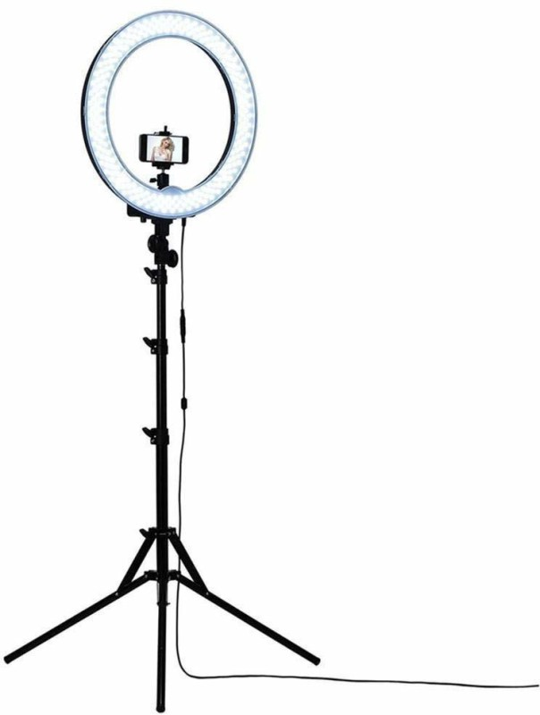 Mindfied Musically and Other Phone's App with Tripod - White, 10 Inches Tripod(Black, Supports Up to 3200 g)