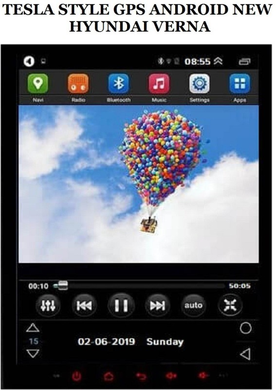 DealT Tesa Stle 'Vna 10.4 inch HD Display GP Andoid Car Stereo(Double Din)