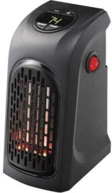 Saiyam 400W Handy Heater Compact Plug-In Portable Digital Electric Heater Fan (Black, 10X8.5X16cm) Fan Room Heater