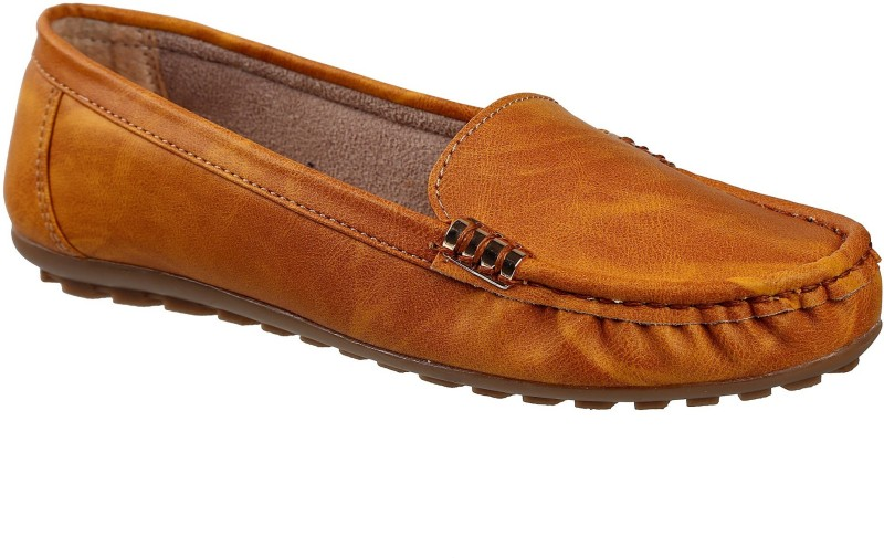 Catbird Latest Stylish Design-Modern Look Casual Moccasins for Women's & Girl's Latest | Fashionable Slip on Loafer, Office-Home Comfort Wear & Lightweight Loafers For Women(Tan)