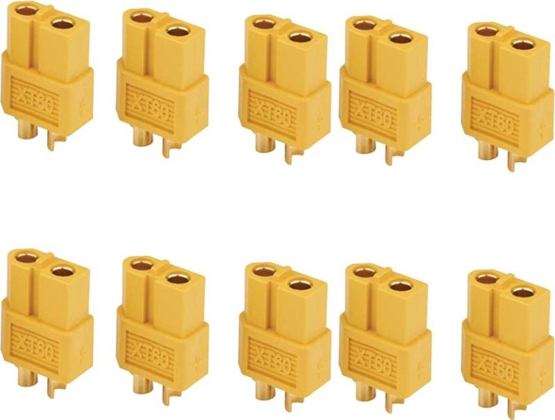 Futaba XT60 Male+ Female Bullet Connectors Plugs for RC Lipo Battery - 5 Pair ( 10 Pcs ) Cable Protector(Multi Color)