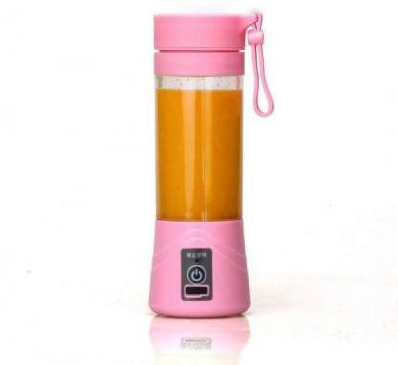 HI-LEE JB 2020 New Design Portable Battery Operated Juice Blender Rechargeable Fruits Mixer Bottle 220 Juicer(Pink, 1 Jar)