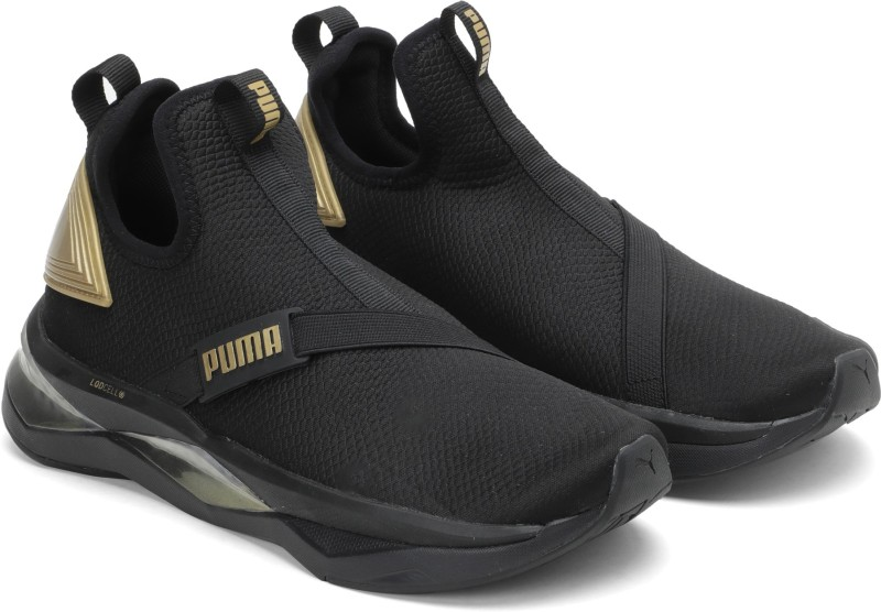 PUMA LQDCELL Shatter Mid Wns Basketball Shoes For Women(Black)