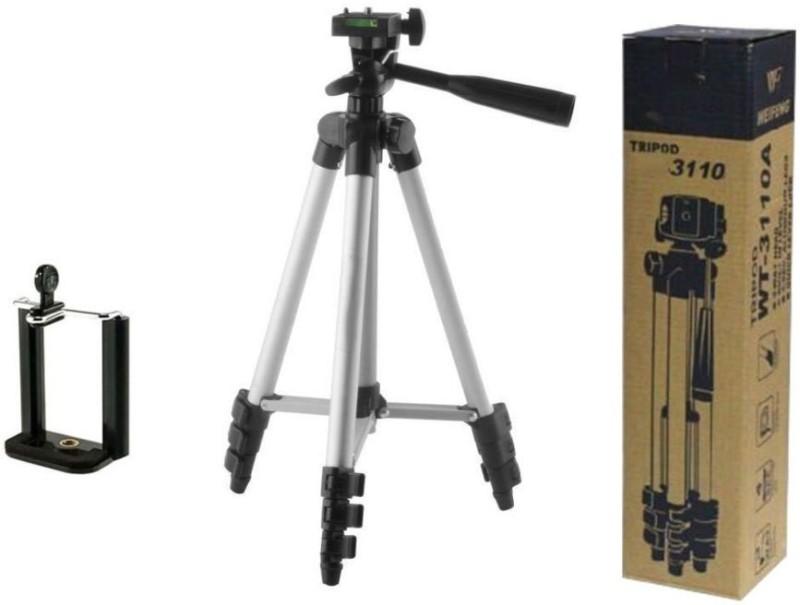 Duende Portable Best Camera Stand Mobile Holder Tripod-3110 for Tik tok, Snapchat, Vigo, Likee, Dubsmash, You tube Tripod, Tripod Bracket(Silver, Black, Supports Up to 1500 g)