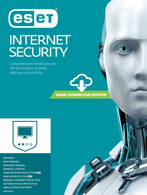 ESET 1 PC 3 Years Internet Security (Email Delivery - No CD)(Standard Edition)
