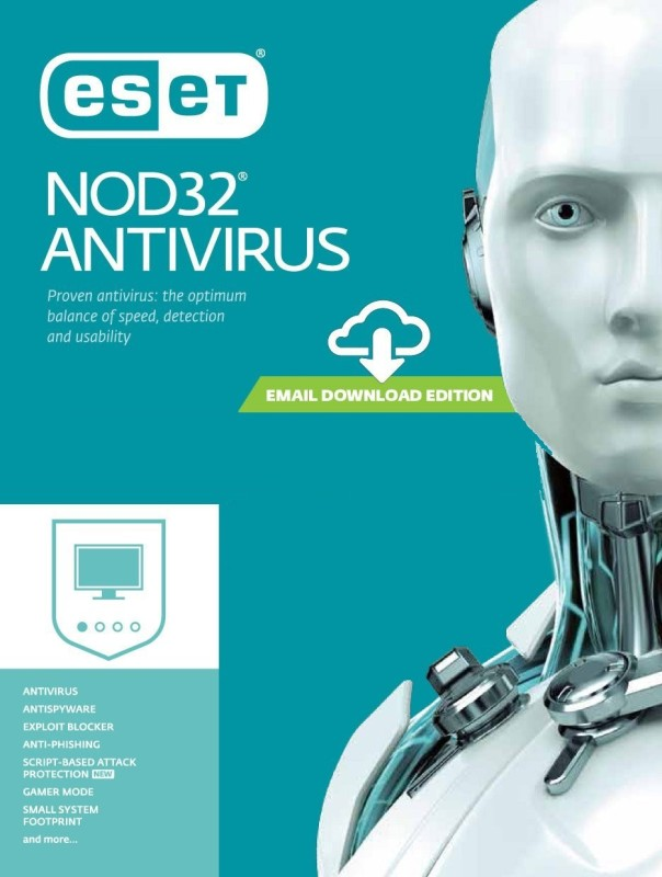 ESET 1 PC 1 Year Anti-virus (Email Delivery - No CD)(Standard Edition)