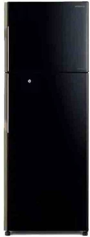 Hitachi 318 L Frost Free Double Door 3 Star (2018) Convertible Refrigerator(Black, R-H350PND7K)