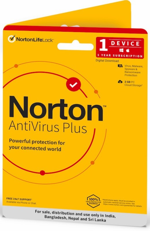 Norton 1 PC 1 Year Anti-virus (Email Delivery - No CD)(Standard Edition)