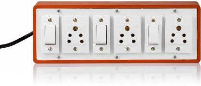 SATNAM BOARD 3+3 3  Socket Extension Boards(White, Brown)