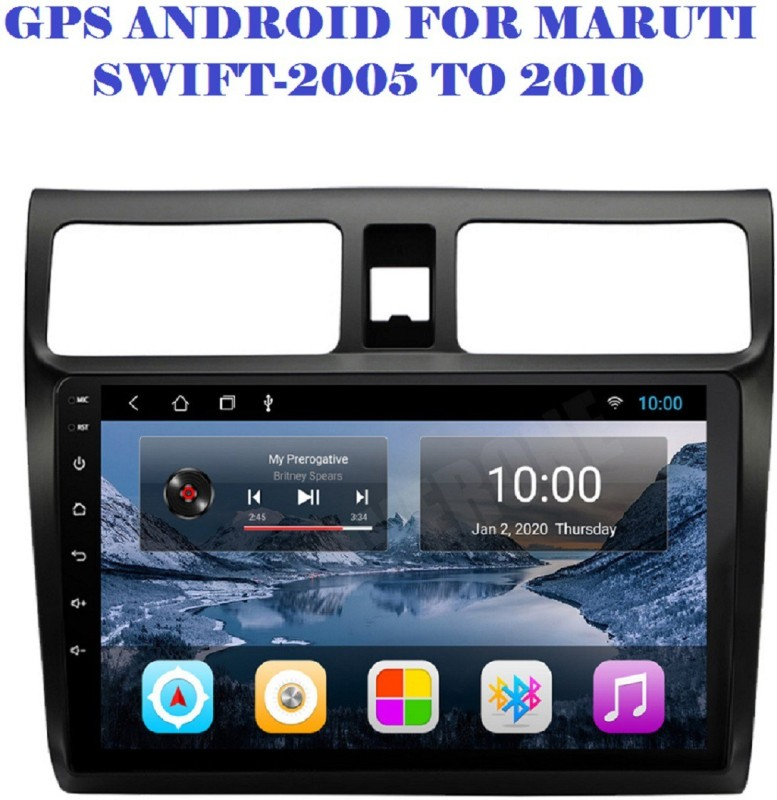 DealT 9 Inch Gps Android Stereo for Maruti Swift 2005 to 2010 HD IPS Display & Gorilla Glass (2GB /16GB) Car Stereo(Double Din)
