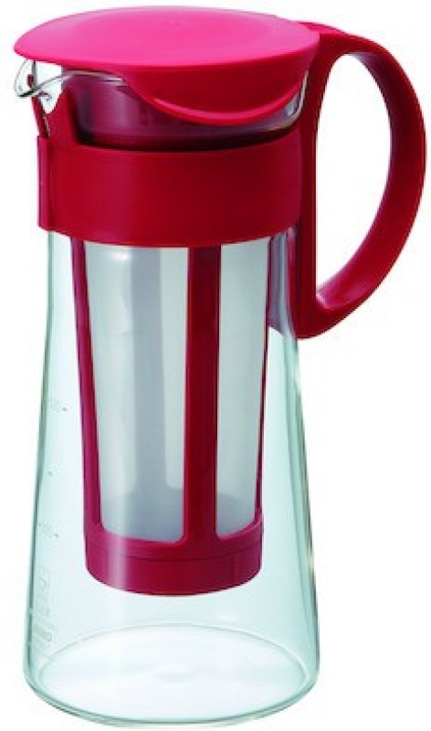Hario MCPN-7R Personal Coffee Maker(Red, Clear)