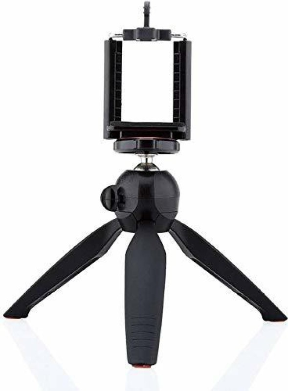 HelloX YT-228 Selfie Mobile Stand Tripod Phone Clip Holder Tripod Tripod(Black, Supports Up to 2000 g)