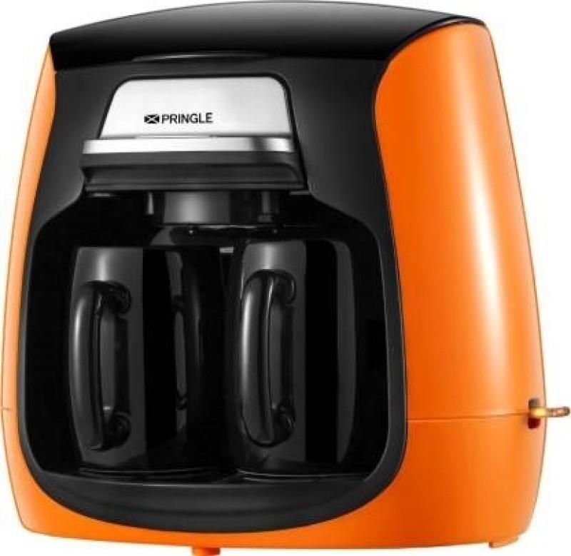 Pringle Personal Coffee Maker 2 Cups Coffee Maker(Orange, Black)