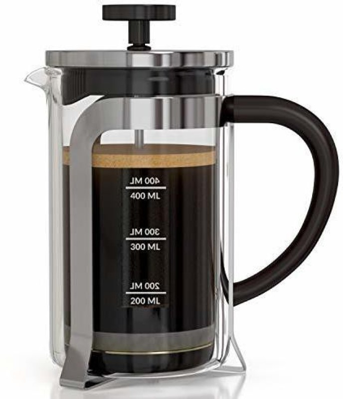 InstaCuppa French Press Coffee Maker 600 ML - Aero Edition with Neoprene Sleeve for Extra Protection, Stainless Steel 6 Cups Coffee Maker(Multicolor)