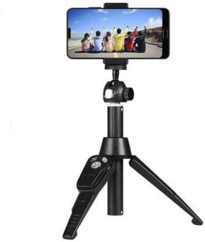 MerePere 3 Way Head H8 Selfie Stick Portable Stand ,Tripod Stand Photography Stand For Professional Tripod Tripod(Black, Supports Up to 1800 g)