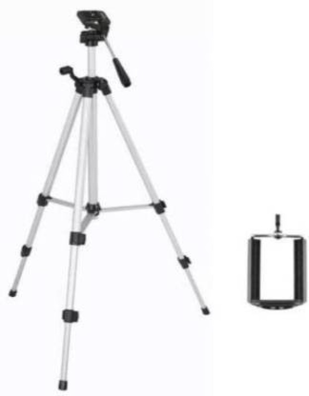 UPROKT LATEST Tripod -330A Aluminum Tripod Stand For Digital Camera Camcorder and Mobile holder   Tripod Stand For Mobile phone clip ,Suitable for most digital cameras and camcorders With moderate weight Tripod Tripod Tripod Tripod(Black, Silver, Supports Up to 1500 g)