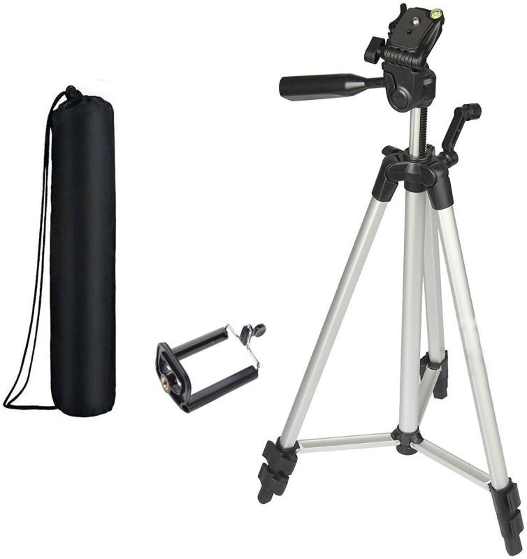 TOHUBOHU 330A Tripod Camera Professional Flexible Lightweight Camera Tripod For Digital SLR Camera Camcorder Tripod Bracket, Tripod(Silver, Black, Supports Up to 2000 g)