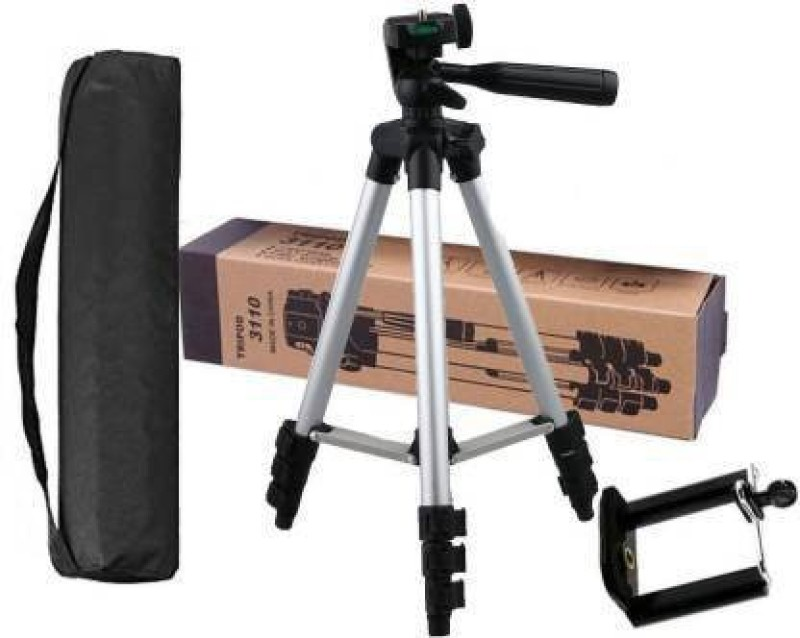 BOREALIS New Collection Tripod Stand 360 Degree 3110 Portable Digital Camera DSLR Mobile Stand Holder Camcorder Tripod Stand Adjustable Head Lightweight Aluminum Flexible Portable Three-way Head tik tok stand Compatible Al Smartphone Best Use for Make Videos on Tiktok,Vigo Video,Snapchat, YouTube Mo
