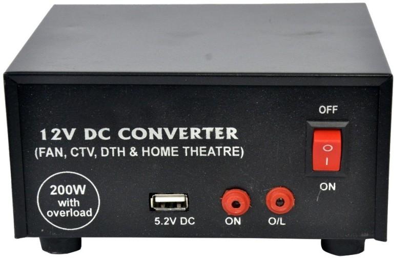 Electrify Mini Car Inverter 200 Watt 12v DC to AC Converter 200 Watt for Multiple Applications Car Inverter