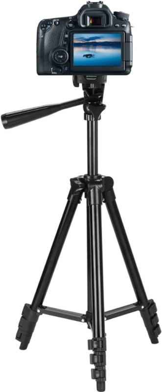 Wanzhow 3120 Mobile Phone Tripod, Convenient Sports Camera Phone Live Selfie Bracket for all digital Cameras & projectors, all Cameras & Android and IOS Smartphones Best use for shoot Online Classes Videos Tripod, Tripod Kit, Tripod Bracket(Black, Supports Up to 1500 g)