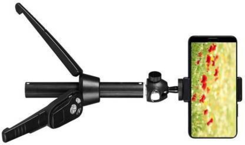 Whelked Heavy Quality H8 Selfie Stick Portable Tripod Tripod(Black, Supports Up to 1800 g)