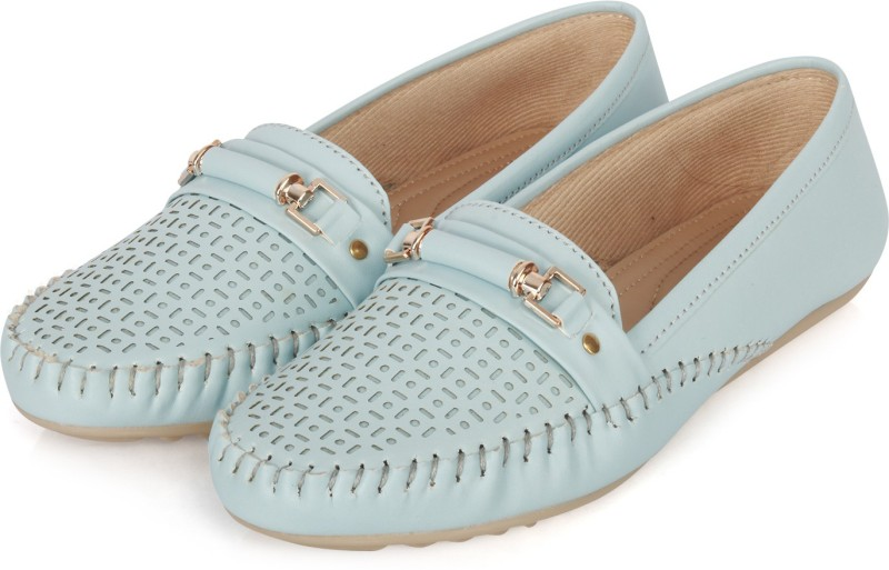 FASHIMO Slip-On Loafers For Women(Blue)
