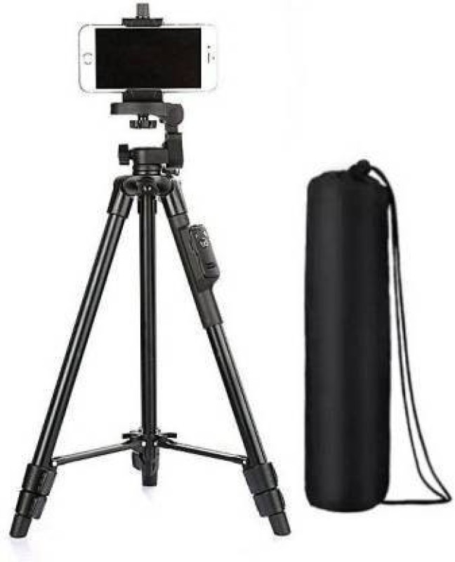 Worricow 3388 Durable Portable Good Quality Camera Tripod Tripod(Black, Supports Up to 1500 g)