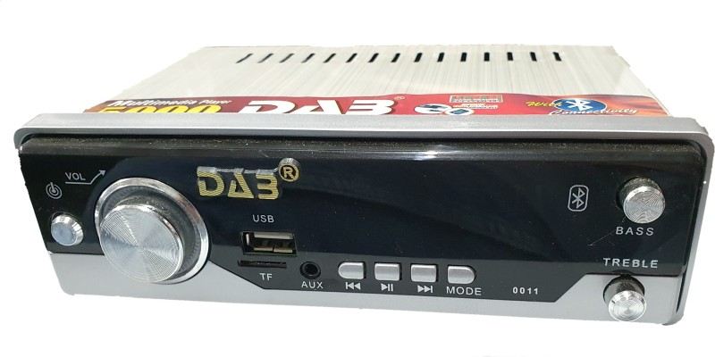 DAB 011 Silver Car Stereo(Single Din)