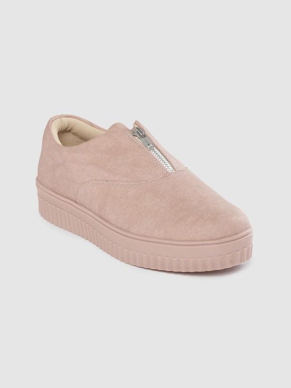 Roadster Roadster Women Dusty Pink Solid Sneakers Sneakers For Women(Pink)