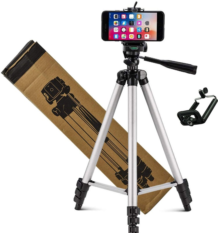 Sulfur Stand Holder for Mobile Phones & Cameras, Mobile Clip Holder Bracket, Strong body,tripod accessorie,mobile accessoreie,adjustable and portable tripod Tripod, Tripod Kit(Silver, Black, Supports Up to 1500 g)