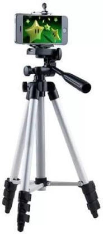 ULFAT Tripod 3110 Stand Mobile Phone Video Camera Tripod Mini Portable Adjustable Tripod(Silver, Black, Supports Up to 1500 g)