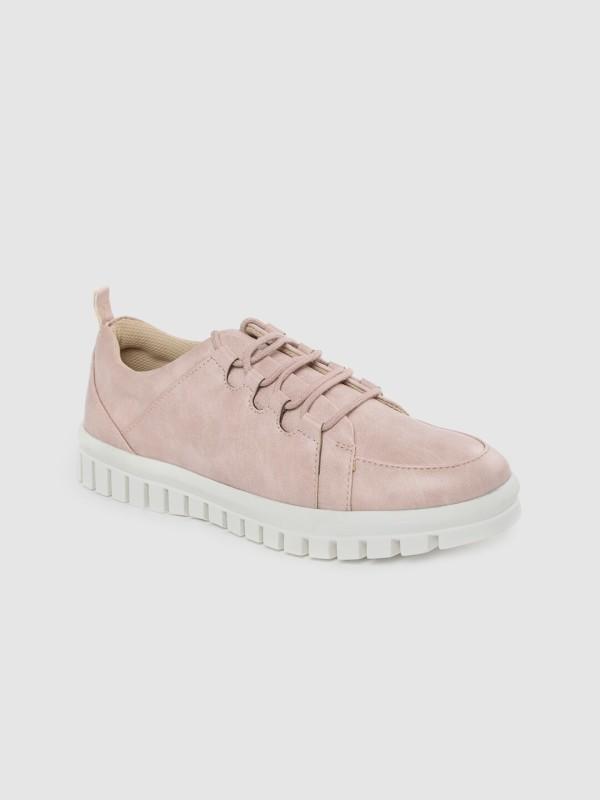 Roadster Women Pink Solid Sneakers Sneakers For Women(Pink)