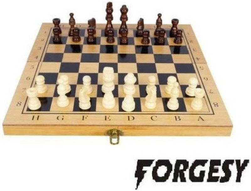 FORGESY HIGH QUALITY FOLDABLE WOODEN CHESS & CHESS COINS Board Game Accessories Board Game