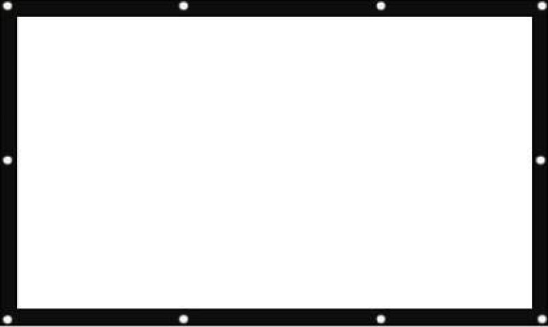 skybright Foldable Eyelets Projector Screens 84 Inch-Diagonal, 6ft.Width 4ft.Height in 4:03, Ratio, Support HD,3D & 4K Technology Use For , Banquets,Class room . .... Projector Screen (Width 182 cm x 123 cm Height)