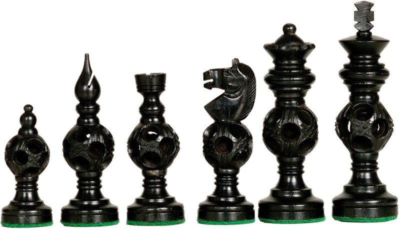 Ganesh Chess 217 Made in ebony and Boxwood Board Game Accessories Board Game