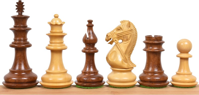 """Royalchessmall 4.2"""" Supreme Luxury Sheesham Wood Weighted Chess Pieces set - Extra Queens Board Game Accessories Board Game"""