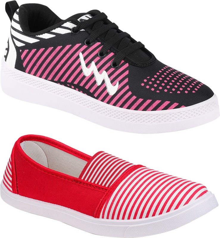 BIRDE Combo Pack of 2 Casual Shoes Sneakers For Women(Multicolor)