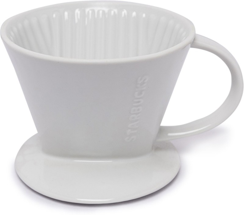 Starbucks Ceramic Pour Over (Coffee Brewing Equipment) NA Cups Coffee Maker(White)