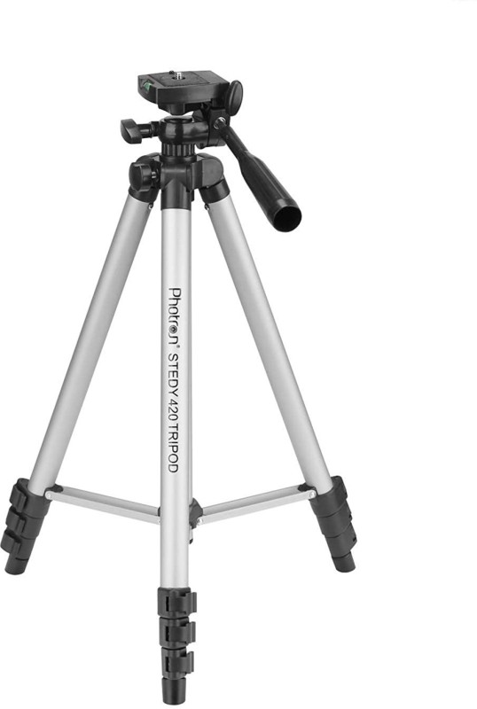PHOTRON STEDY 420 TRIPOD SILVER with mobile holder Tripod Kit(Silver, Supports Up to 2500 g)