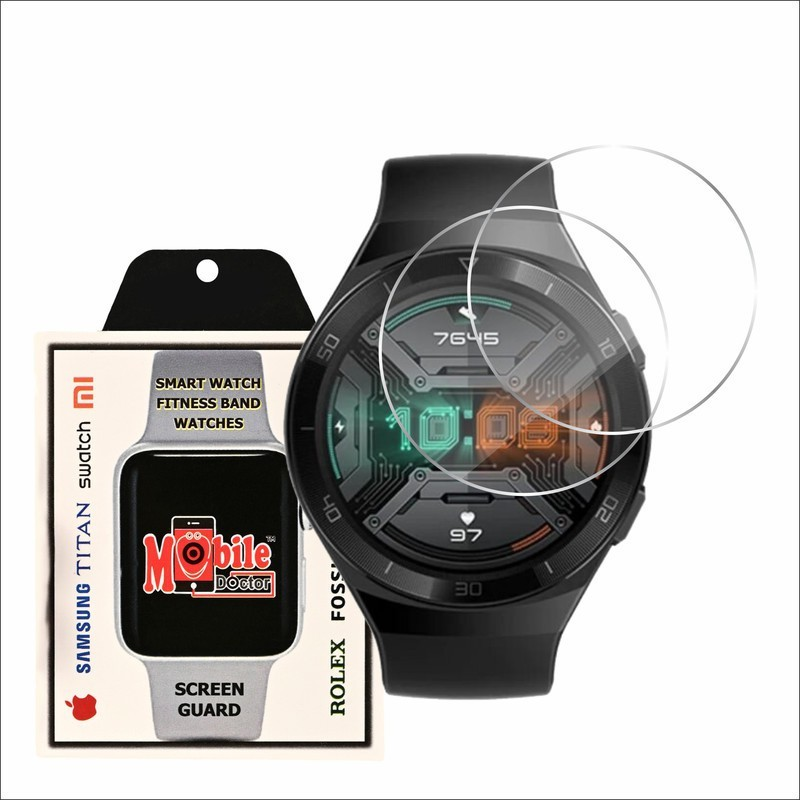 MOBILE DOCTOR Screen Guard for HUWAEI WATCH GT 2E(Pack of 2)