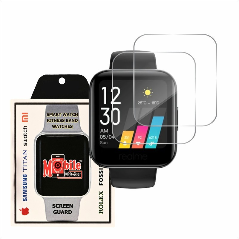 MOBILE DOCTOR Screen Guard for REALME FASHION WATCH(Pack of 3)