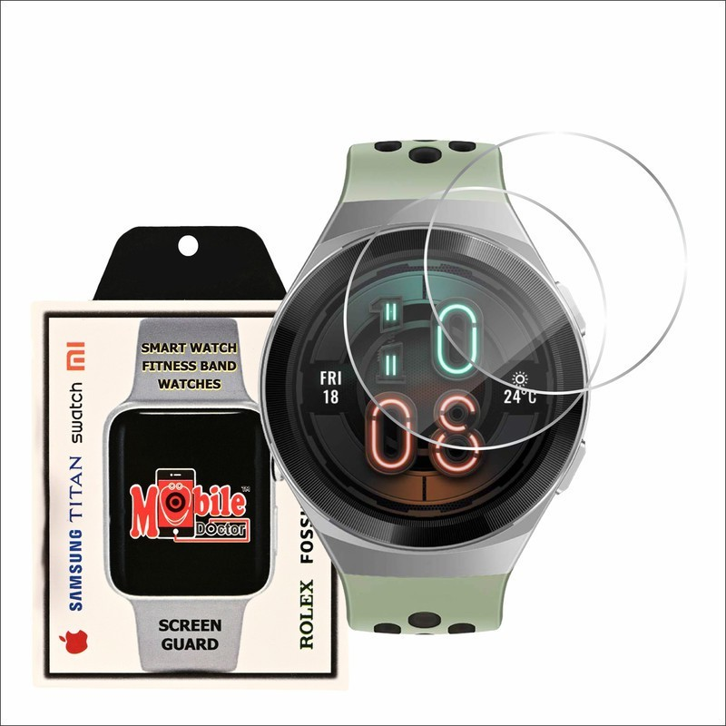 MOBILE DOCTOR Screen Guard for HUWAEI WATCH GT 2E ACTIVE(Pack of 2)