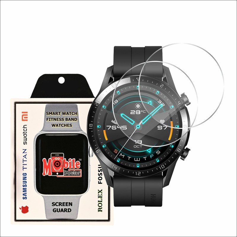 MOBILE DOCTOR Screen Guard for HUWAEI WATCH GT 2 46MM(Pack of 2)