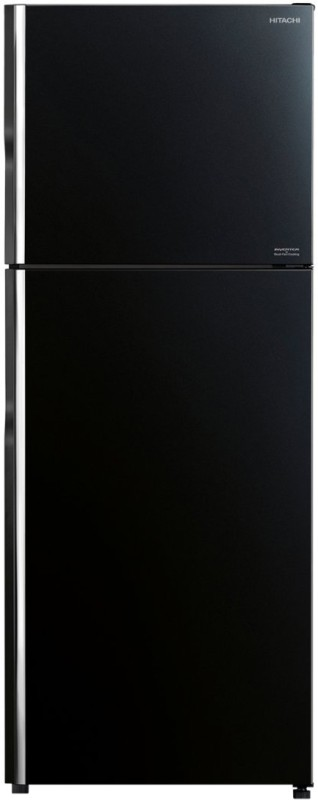 Hitachi 403 L Frost Free Double Door Top Mount 2 Star (2020) Refrigerator(Glass Black, R-VG440PND8)