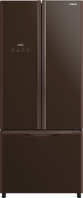 Hitachi 511 L Frost Free French Door Bottom Mount Refrigerator(Glass Brown, R-WB560PND9 GBW)