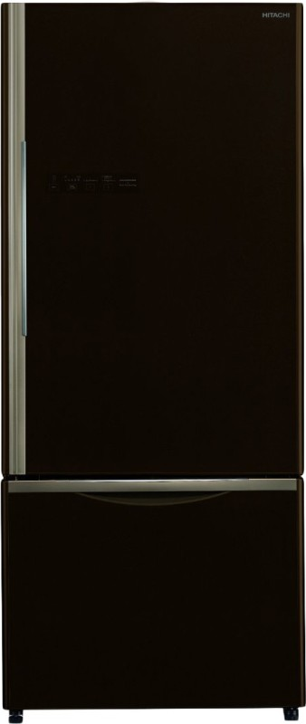 Hitachi 525 L Frost Free Double Door Bottom Mount 2 Star (2020) Refrigerator(Glass Brown, R-B570PND7 GBW)