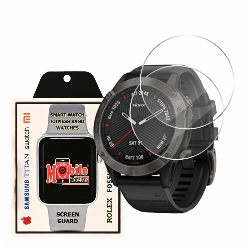 MOBILE DOCTOR Screen Guard for GARMIN FENIX 6S 42 MM(Pack of 3)